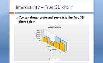 True 3D chart