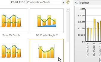 Selecting combination chart